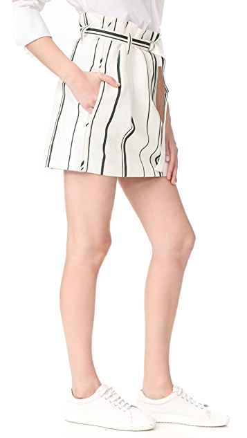 3.1 Phillip Lim Belted Striped Skirt