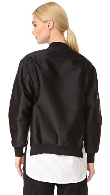 3.1 Phillip Lim Bomber Jacket with Shirting