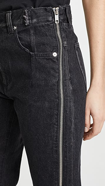 3.1 Phillip Lim Straight Jeans with Zipper