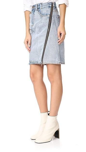 3.1 Phillip Lim Асимметричная юбка из денима с молнией