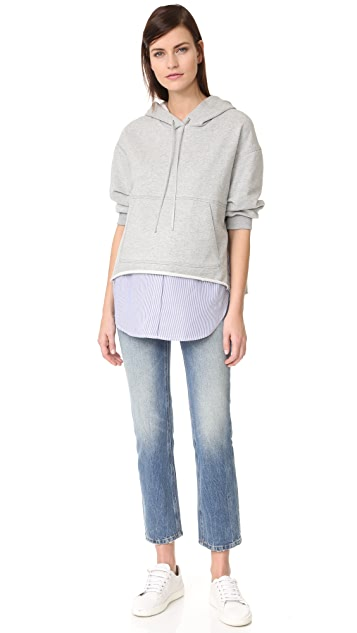 3.1 Phillip Lim Combo French Terry Hoodie