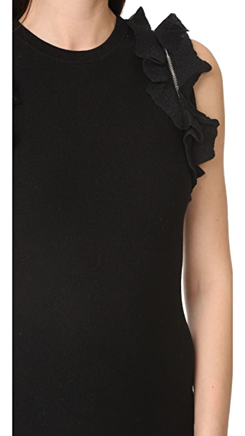 3.1 Phillip Lim Solid Ruffle Tank Dress