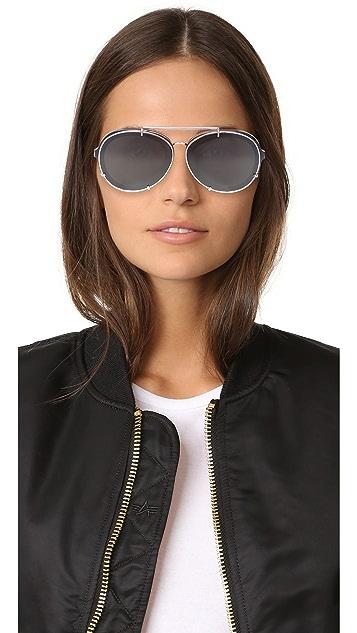 3.1 Phillip Lim Round Aviator Sunglasses