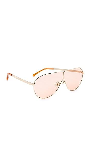3.1 Phillip Lim Aviator Shield Sunglasses