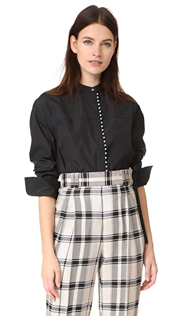 3.1 Phillip Lim Blouse with Imitation Pearls