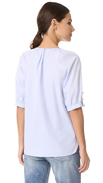 3.1 Phillip Lim Gathered Top with Lacing