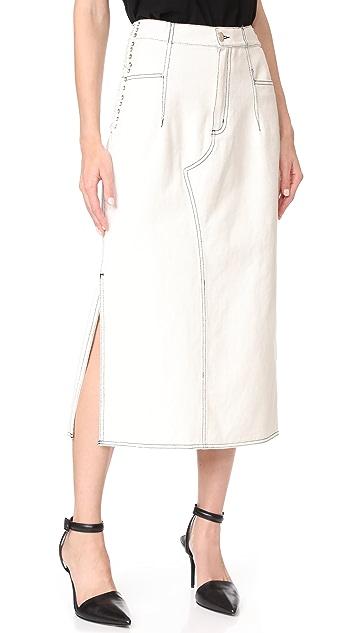 3.1 Phillip Lim Denim Skirt with Lacing