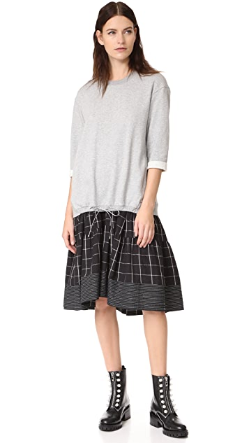 3.1 Phillip Lim Cropped Sleeve Combo Dress
