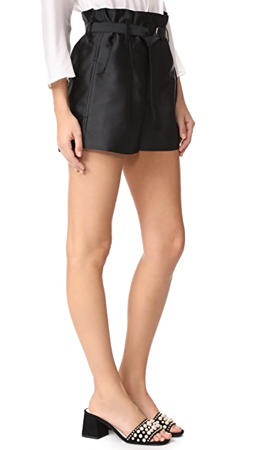 3.1 Phillip Lim Satin Origami Shorts