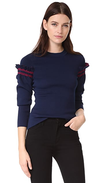 3.1 Phillip Lim Pullover with Ruffle Sleeves