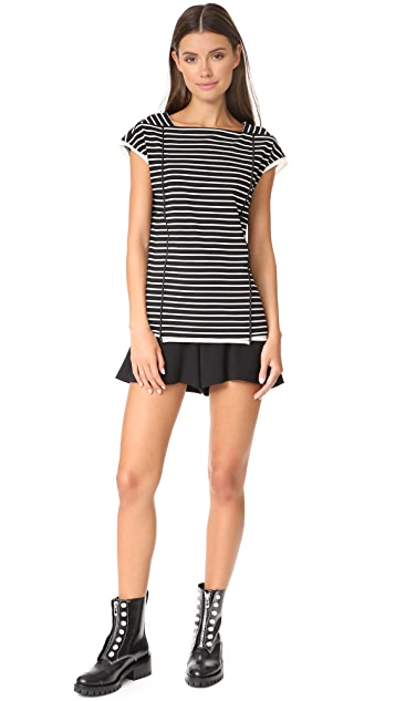3.1 Phillip Lim Striped Tee with Side Ties