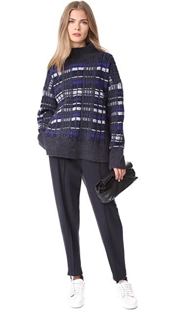 3.1 Phillip Lim Abstract Float Plaid Pullover