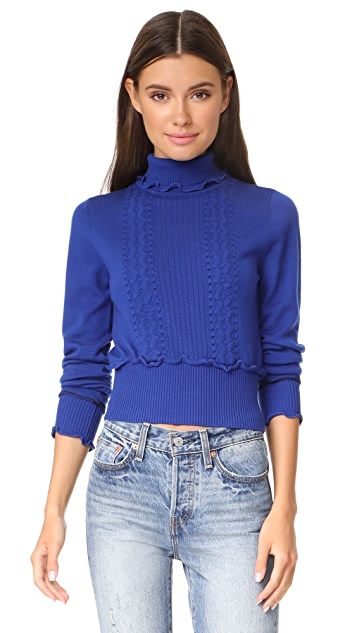 bef030df8b37 3.1 Phillip Lim Puffy Cable Turtleneck Pullover