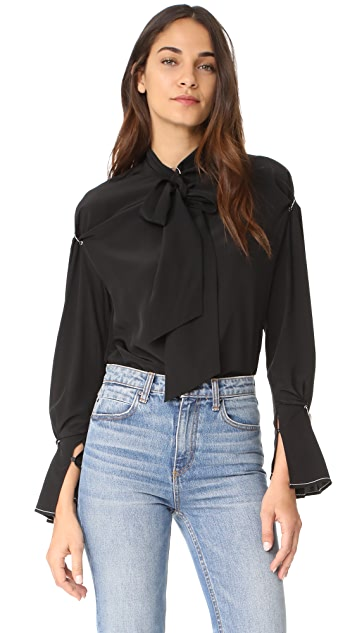 3.1 Phillip Lim Silk Blouse with Piercings