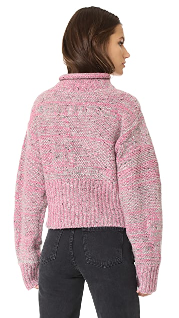 3.1 Phillip Lim Plaited Tweed Cropped Pullover