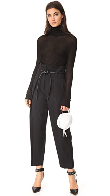3.1 Phillip Lim Origami Pleat Pants with Belt