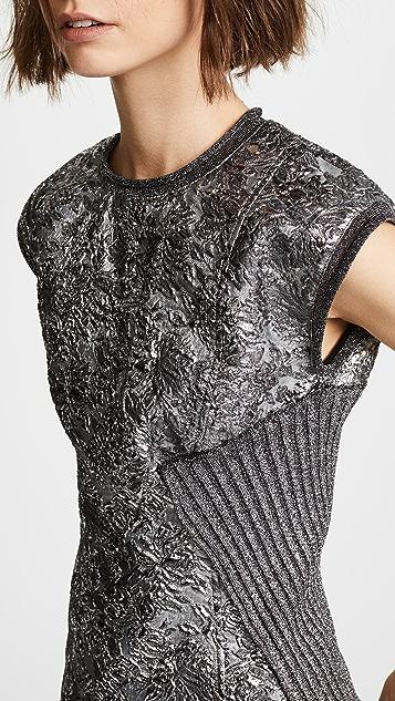 3.1 Phillip Lim Sleeveless Metallic Combo Top