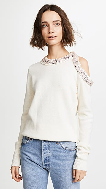 3.1 Phillip Lim Long Sleeve Embellished Pullover