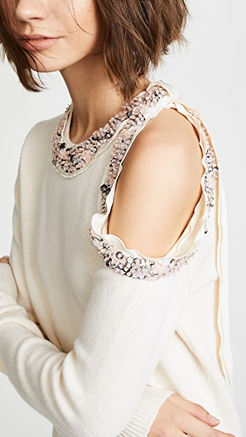 3.1 Phillip Lim Long Sleeve Embellished Pullover