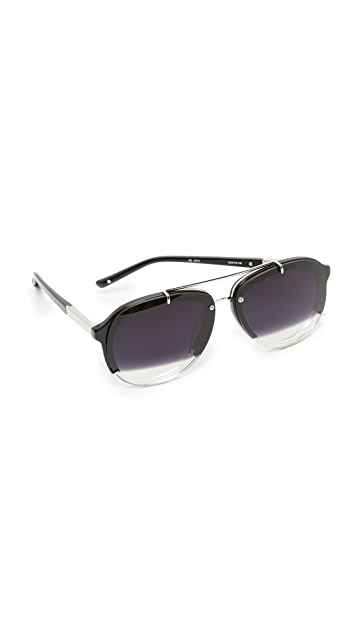3.1 Phillip Lim Split Aviator Sunglasses