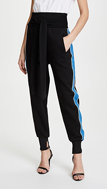 3.1 Phillip Lim Jogger Pants with Tie - Black