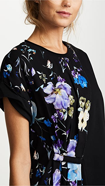3.1 Phillip Lim Floral Combo Tee Dress
