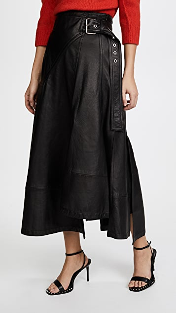3.1 Phillip Lim Utility Leather Skirt