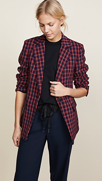 Plaid Single Button Blazer by 3.1 Phillip Lim