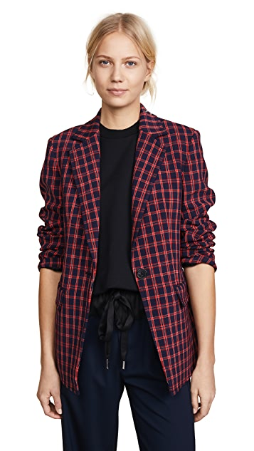 3.1 Phillip Lim Plaid Single Button Blazer