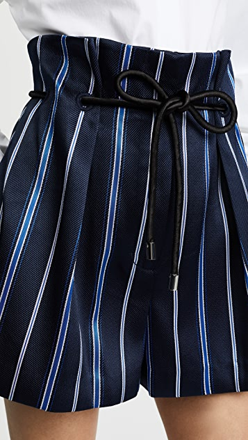 3.1 Phillip Lim Striped Origami Shorts