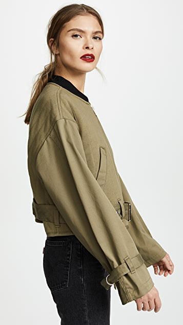 3.1 Phillip Lim Quilted Jacket with Combo Sleeves