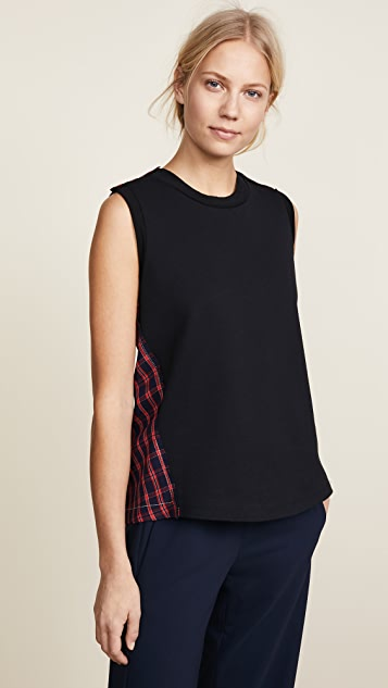 3.1 Phillip Lim Plaid Tank with Twisted Back