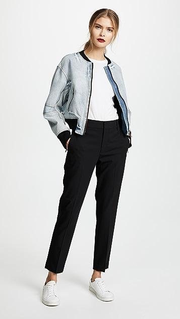 3.1 Phillip Lim Denim Bomber Jacket with Zip