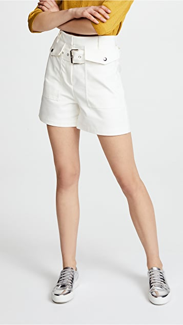 3.1 Phillip Lim Belted Shorts - Antique White