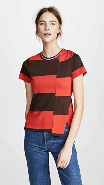 3.1 Phillip Lim Twisted Back Top - Chocolate/Poppy Red