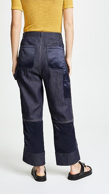 3.1 Phillip Lim Denim Cargo Pants