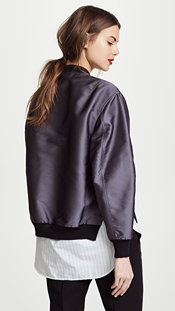 3.1 Phillip Lim Bomber Jacket with Ribbing