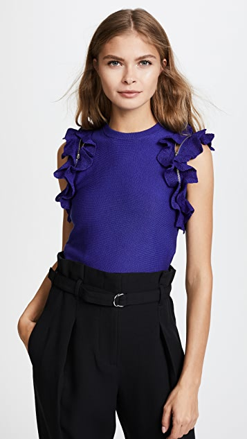 3.1 Phillip Lim Solid Ruffle Sport Top