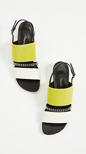 3.1 Phillip Lim Drum 30mm Studded Sandals