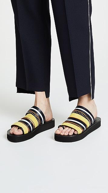 3.1 Phillip Lim Eva Multi Stripe Sandals
