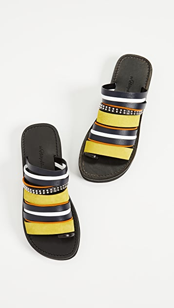 3.1 Phillip Lim Eva Multi Stripe Sandals