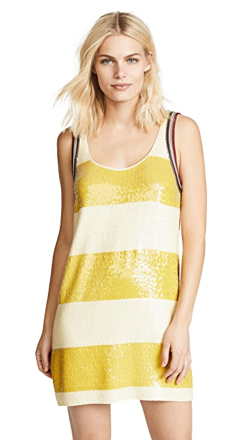 3.1 Phillip Lim Striped Sequin Shift Dress