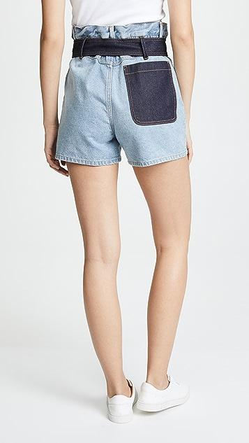 3.1 Phillip Lim Belted Paperbag Shorts