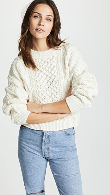 3.1 Phillip Lim Boxy Cable Sweater