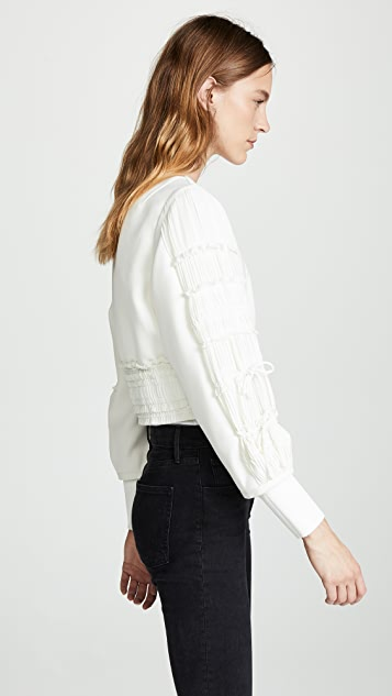 3.1 Phillip Lim Gathered Sleeve Bomber Jacket