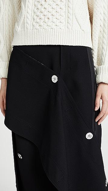 3.1 Phillip Lim Asymmetrical Wool Skirt