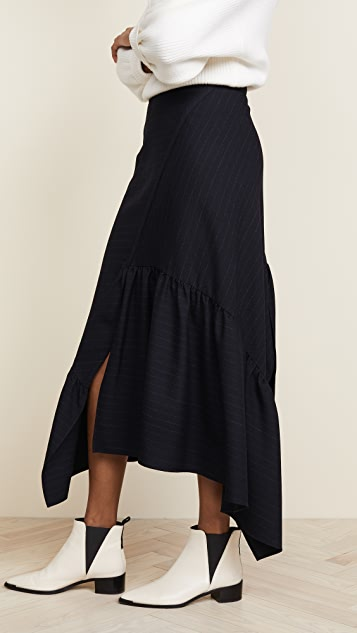 3.1 Phillip Lim Skirt with Asymmetric Ruffle Hem
