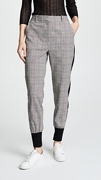 7a9c47a5ce29f 3.1 Phillip Lim Checked Wool Jogger Pants