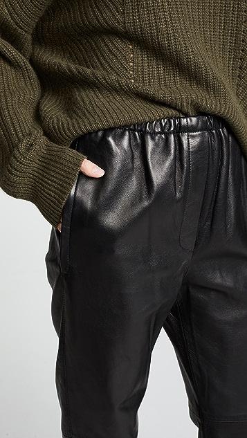3.1 Phillip Lim Кожаные тренировочные штаны