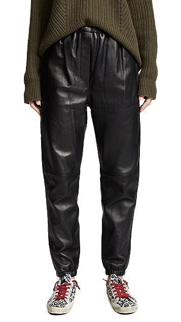 3.1 Phillip Lim Leather Track Pants